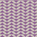 Knit pattern seamless with violet triangles Royalty Free Stock Image