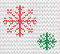 Knit seamless pattern with snowflakes. wool background. vector. Winter theme. Easy to relocate snowflakes Royalty Free Stock Photo