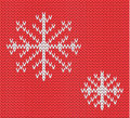 Knit seamless pattern with snowflakes. wool background. . Winter theme. Easy to relocate snowflakes Royalty Free Stock Photo
