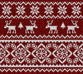 Knitted background with deer.
