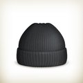 Knitted black cap Stock Image