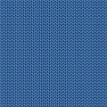 Knitted blue texture. Knit from wool seamless pattern. Stitches Royalty Free Stock Photo