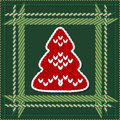Knitted Christmas tree Royalty Free Stock Photos