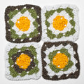 Knitted color pattern Stock Image