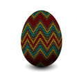 Knitted egg easter with pattern Stock Image