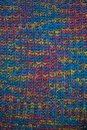 Knitted fabric texture. Closeup view of multicolored fabric jersey. Multicolor abstract background and texture for designers. Colo Royalty Free Stock Photo
