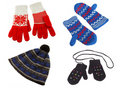 Knitted gloves and hat Royalty Free Stock Photo