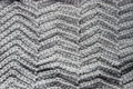 Knitted grey cloth texture close up Royalty Free Stock Photos