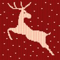 Knitted jumping reindeer pattern