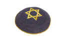 Knitted kippah with embroidered golden David star