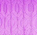 Knitted lilac cloth close up Stock Photo