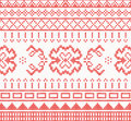 Knitted pattern with ornament. Vector illustration.