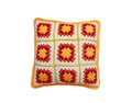 Knitted pillow on white background Royalty Free Stock Photo