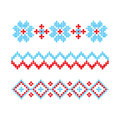 Knitted Retro cloth with Snowflake Element Template. Vector.