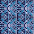 Knitted seamless blue and white ornate pattern Royalty Free Stock Photo