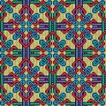 Knitted seamless multicolor ornate pattern Royalty Free Stock Photo