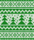 Knitted seamless pattern with fir trees eps Royalty Free Stock Photo
