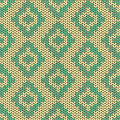 Knitted seamless pattern with rhombus ethnic Royalty Free Stock Photos
