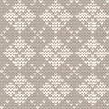 Knitted seamless pattern simple checkered background for knitting Stock Image