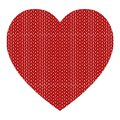 Knitted vector pattern with red heart Royalty Free Stock Photos