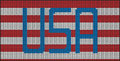 Knitting american flag motive with text Stock Photos