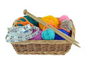 Knitting Basket Royalty Free Stock Photo