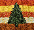 Knitting-Christmas tree Royalty Free Stock Photography