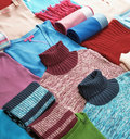 Knitting clothes Royalty Free Stock Photography