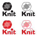 Knitting logo Stock Images