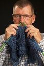 Knitting Man Stock Photography