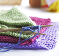 Knitting needles Stock Images