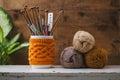 Knitting Needles Storage Royalty Free Stock Photo