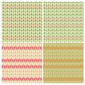 Knitting patterns seamless eps vector abstract pattern set resembles patterned linen Stock Photo