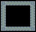Knitting Vintage frame, floral pattern, pattern, greeting, jacquard pattern, fabric border