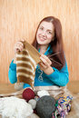 Knitting woman Royalty Free Stock Photography