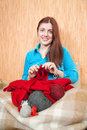 Knitting woman Stock Photos