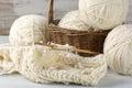Knitting and yarn Royalty Free Stock Photo