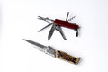 Knives for all occasions on white isolated Stock Photo