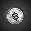 Knob business acceleration concept dollar sign Royalty Free Stock Photo