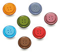 Knobs handicrafts colorful buttons and Stock Images