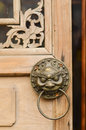 Knocker door lion head grand palace gate Royalty Free Stock Photos