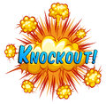 Knockout expression with cloud explosion background Royalty Free Stock Images