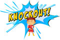 Knockout punch icon on white Royalty Free Stock Images