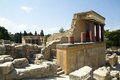 Knossos crete in greece is the largest bronze age archaeological site on and considered as europe s oldest city Stock Images