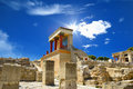 Knossos palace at crete greece knossos palace bronze age archaeological site on and the ceremonial and political centre of the Stock Photography