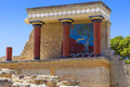 Knossos palace in Crete Royalty Free Stock Photo