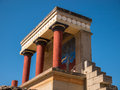 Knossos Palace North Entrance Crete Greece Royalty Free Stock Photo
