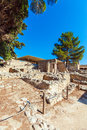 Knossos Palace Ruins, Heraklion Crete Royalty Free Stock Photo