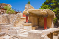 Knossos ruins of legendary palace of minos Stock Images