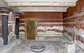 Knossos Throne Room, Crete, Greece Stock Photos